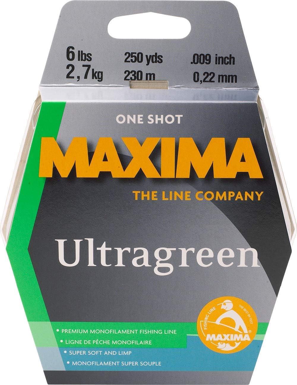 Maxima Fishing Line One Shot Bobine NOUVEAU 6-Pound//250-Yard Moss 6 ULTRAGREEN