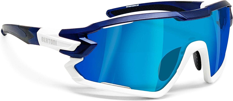 BERTONI Gafas Ciclismo Running MTB Esquí Tennis Padel Polaridas Fotocromaticas Mod. Quasar