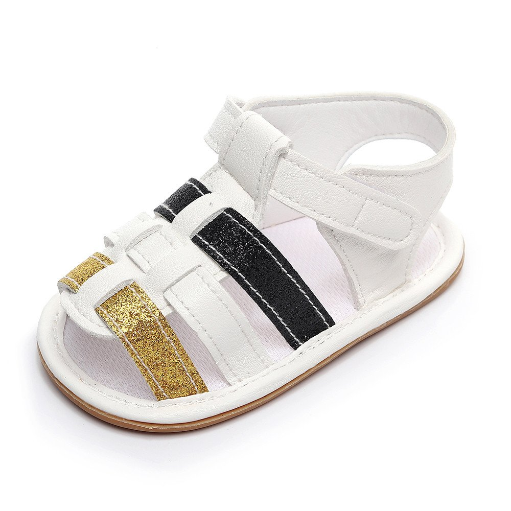 Lurryly Infant Baby Boys Girls Leather Rubber Sole Summer Sandals First Walkers Shoes