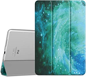MoKo Case Fit iPad Pro 9.7 - Slim Lightweight Smart-Shell Stand Cover with Translucent Frosted Back Protector Fit iPad Pro 9.7 Inch 2016 Release Tablet, Swirl (with Auto Wake/Sleep)