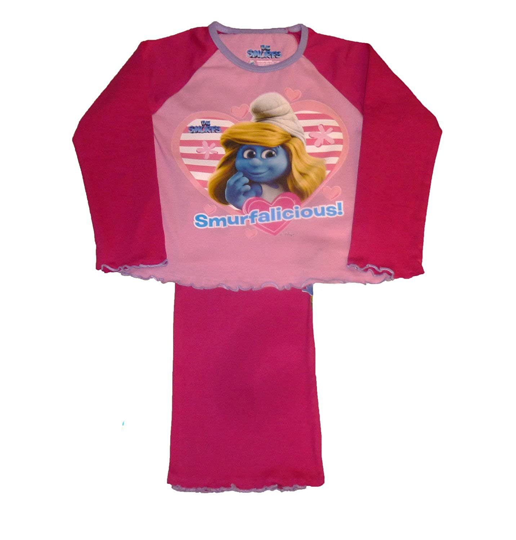 i-Smalls Girls Kids Smurf Smurfalicious Cotton Long Pyjama Sleepwear Nightwear