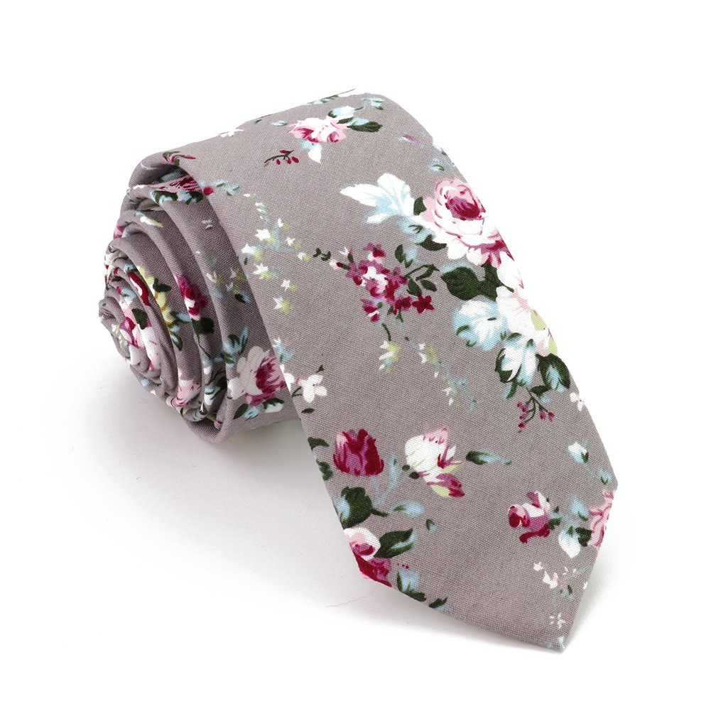 Jacquard Floral Business Skinny Neck Tie for Men Women (mix 3)