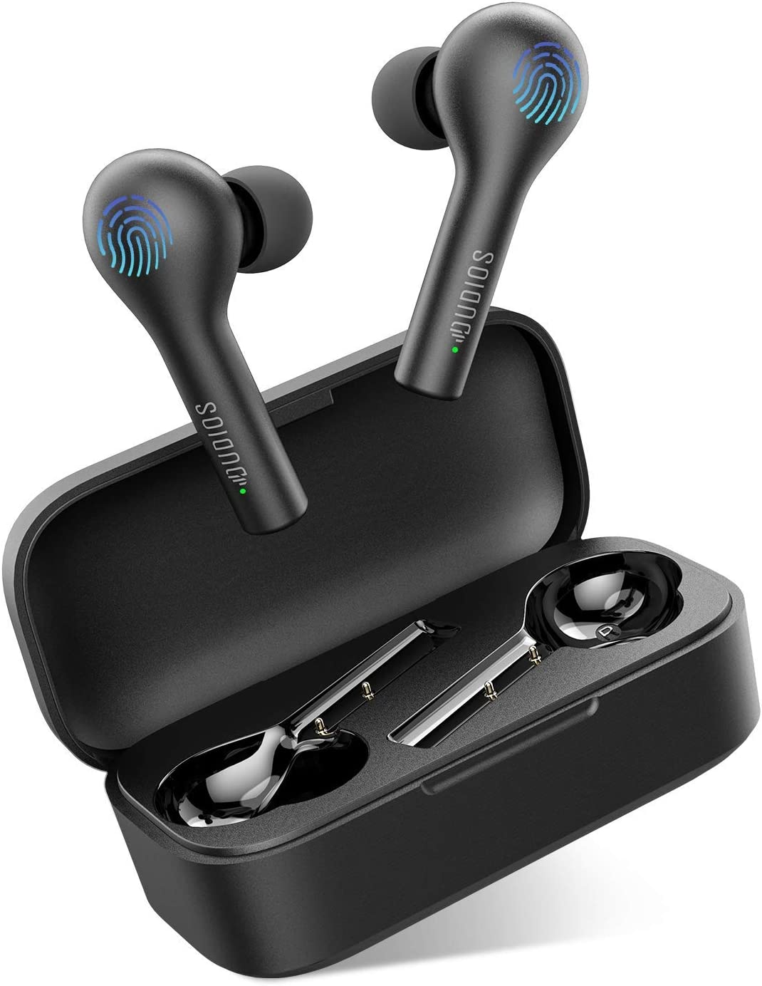 Wireless Earbuds with Charging Case, Bluetooth 5.0 Earphones 20Hrs Playing Time in-Ear Clear Call Stereo Sound Built-in Mic Sweatproof Auto Pairing for iPhone Samsung Android, Noise Cancelling