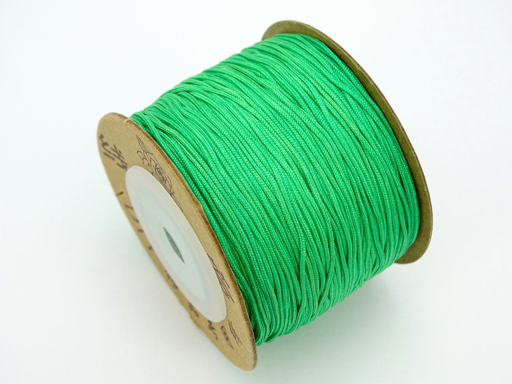 8 Colors Artificial Sinew Bobbin 20 Yard 50 lb Test Waxed Beading Craft Thread Black