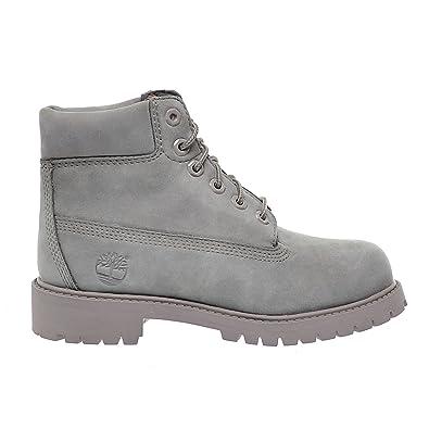 d2e6adb204d Timberland 6 Inch Premium Little Kids Boots Grey Nubuck tb0a199k (1 D(M)