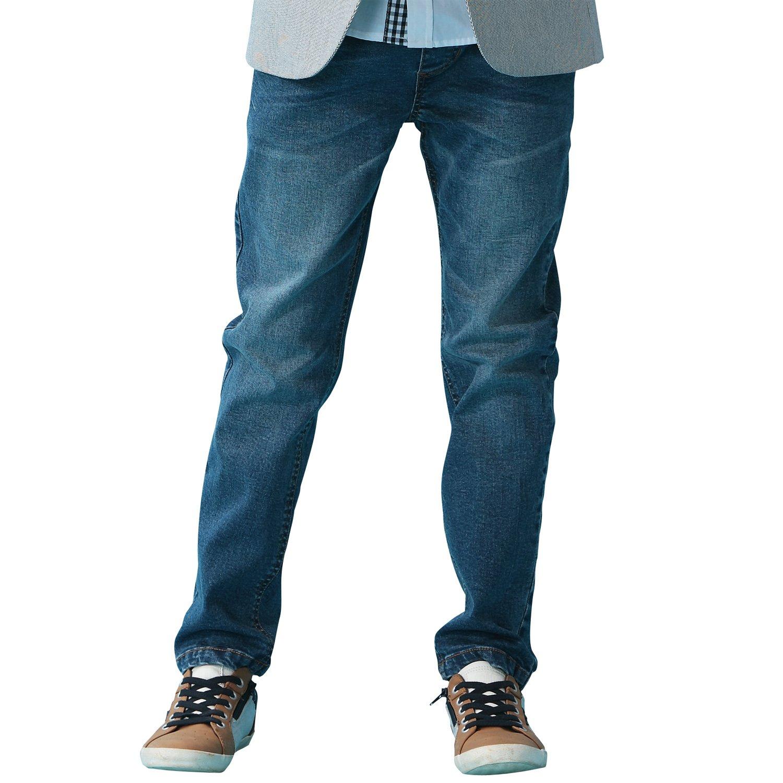 Leo&Lily Boys' Kids' Husky Rib Waist Stretch Denim Jeans Pants (10)
