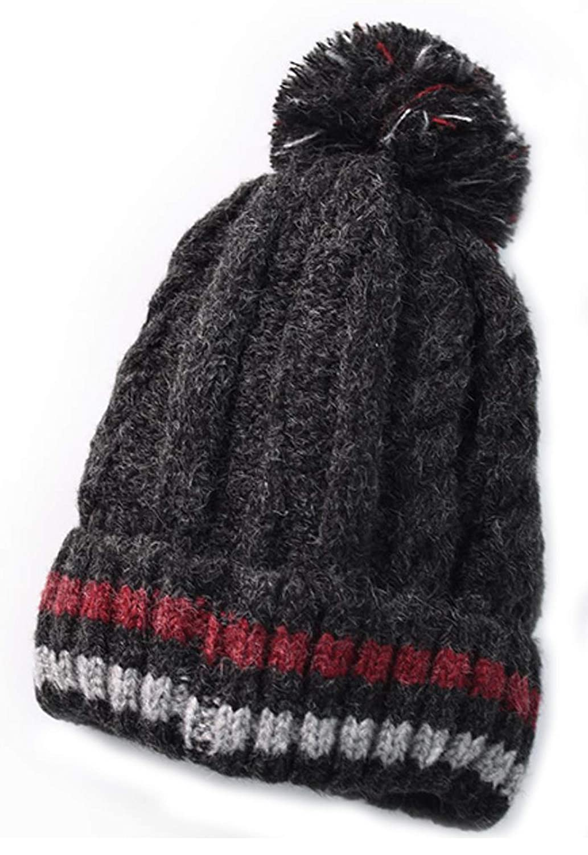 MTFS レディース 冬用ニットビーニー帽 暖かい雪 スカル スキーキャップ スタイル#1  B07JYN5RY6