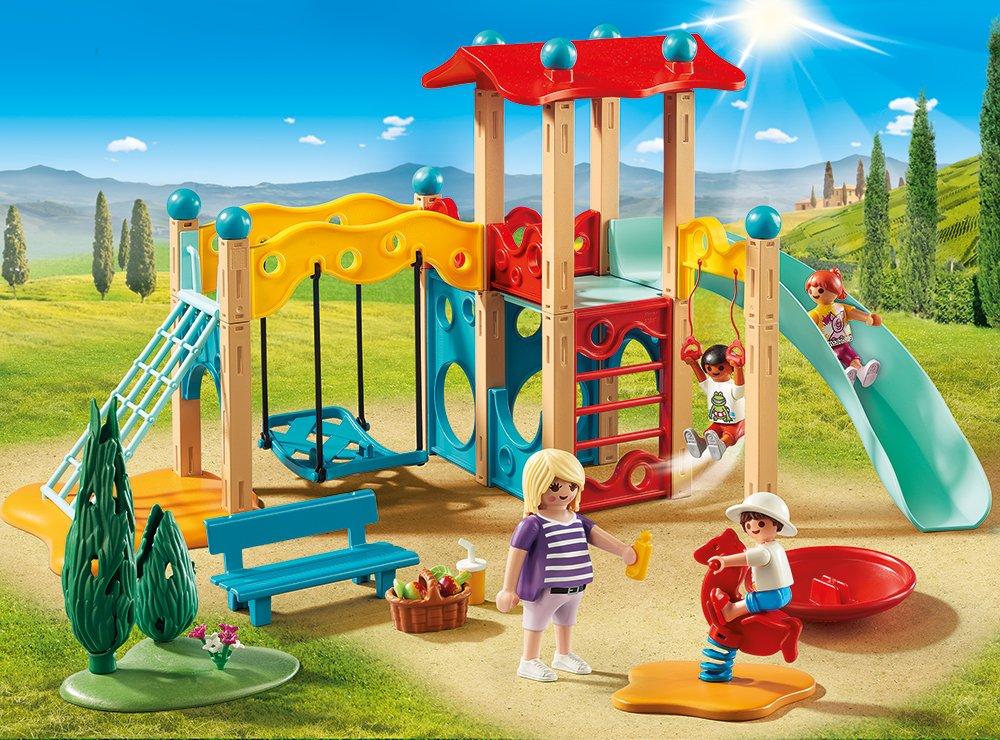 Playmobil Klettergerüst : Playmobil 9423 großer spielplatz spiel: amazon.de: spielzeug