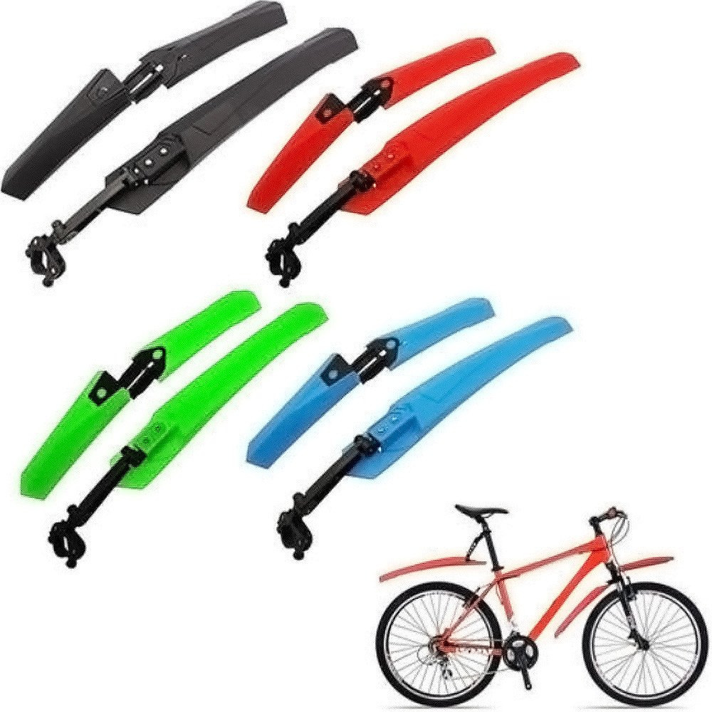 Green Retractable Bike Fender Front and Rear MTB Bicycle Mud Guard Set Front and Rear Compatible Mountain Bike Front and Rear Fenders Fits for Most Bikes Road Bikes Mountain Bikes