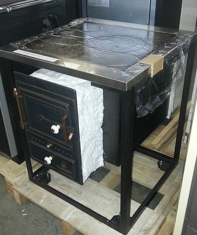 stufa palazzetti per Cucina a legna in muratura piano ...