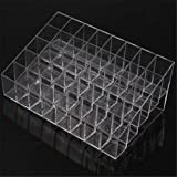 HENGSONG Acrylic 40 Stand Transparent Plastic Trapezoid Makeup Cosmetic Organizer Display Stand