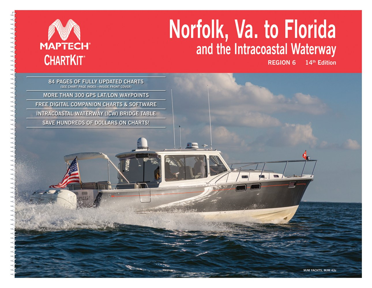 Norfolk, VA, to Florida and the Intracoastal Waterway ChartKit Region 6 14th Edition by MAPTECH®
