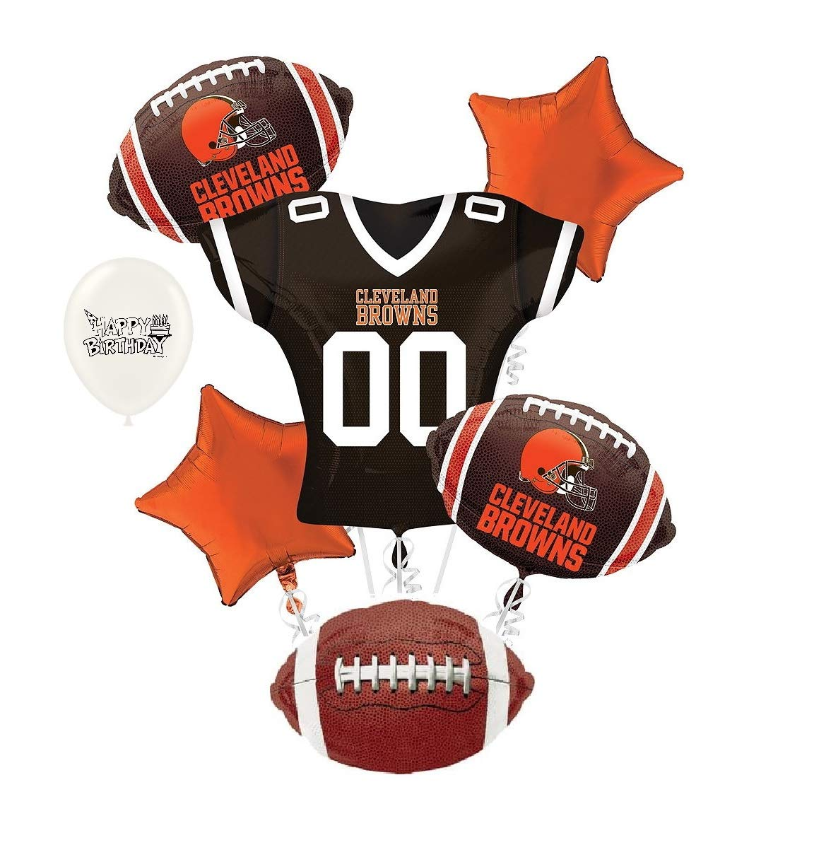 27dc2ccc Amazon.com: Cleveland Browns NFL Football Party Balloon Bouquet ...