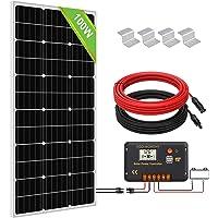 ECO-WORTHY 100 W monokristallin solmodulsystem, 100 W solpanel med 20 A laddningsregulator för nätverksoberoende 12 V…