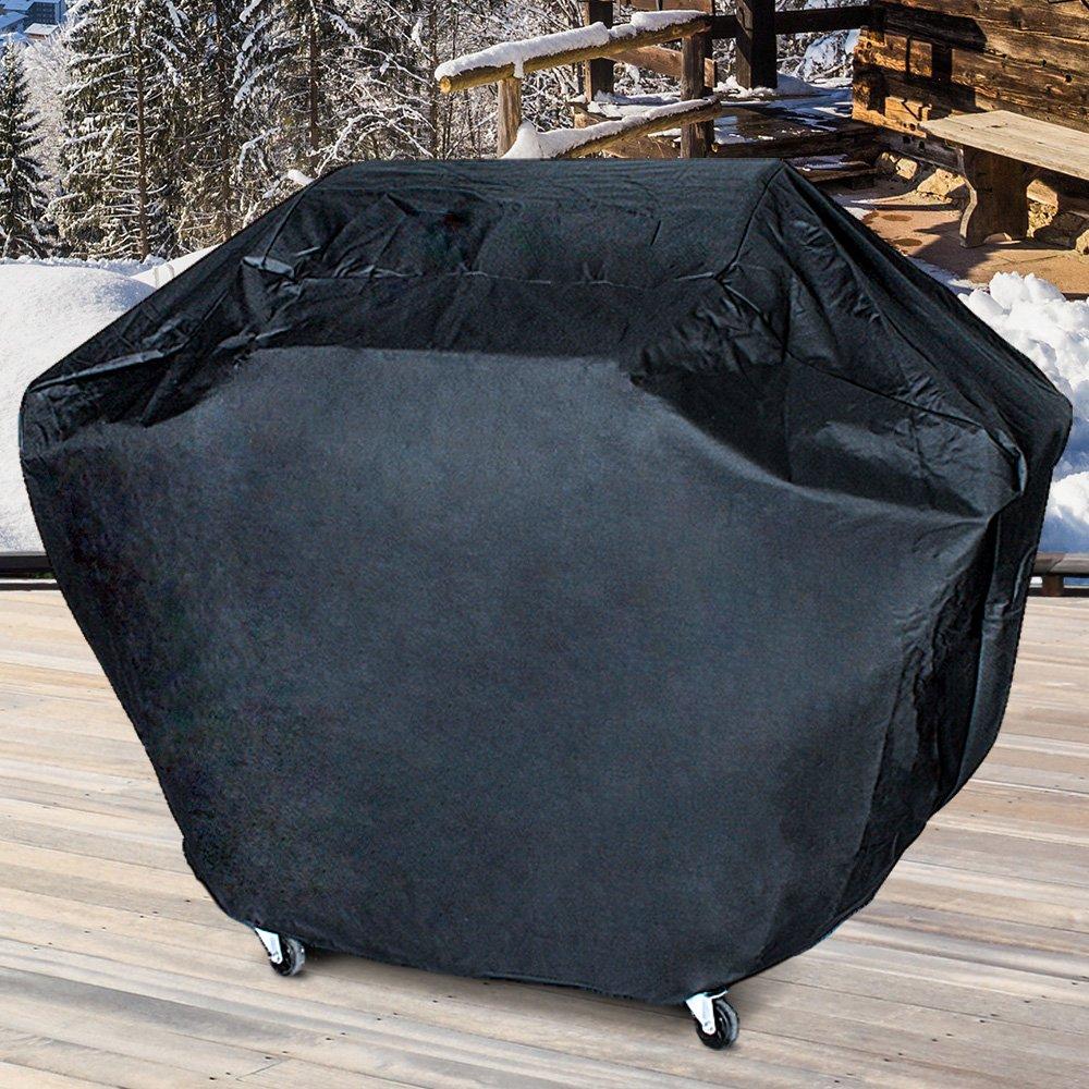 R/ésistant aux UV et /à leau Noir 155x65x115cm B/âche de Protection BBQ Housse pour le Barbecue Grill /à gaz 5+1 Couverture