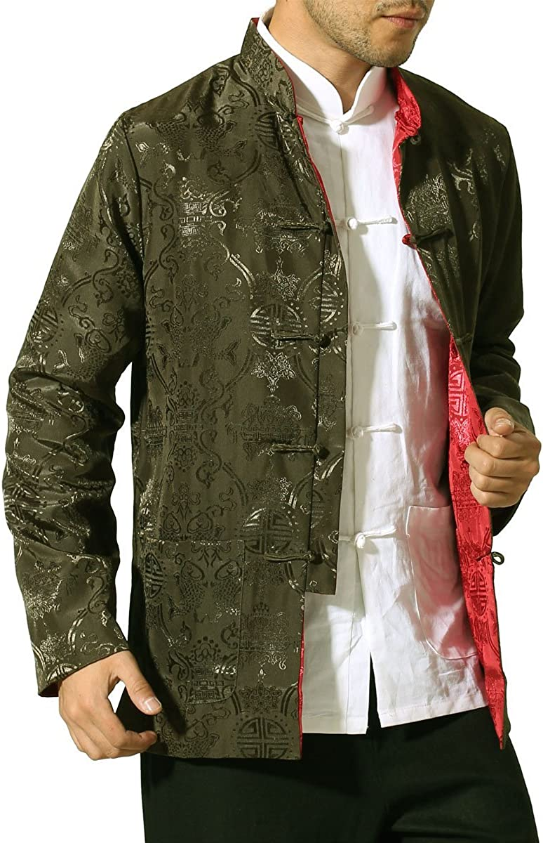 Bitablue Mens Auspicious Reversible Chinese Shirt