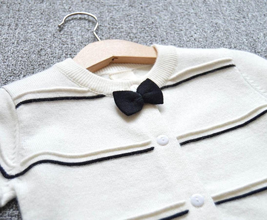 Coerni Girls Cute Bowknot Warm Knitted Sweater