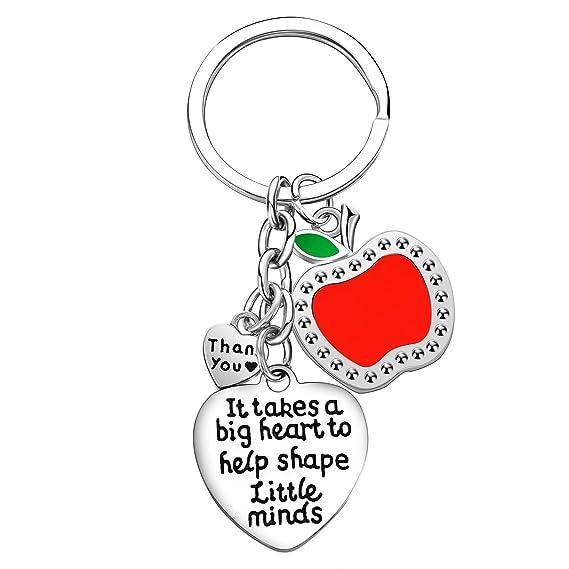 Amazon.com: Llavero con colgante de corazón para ayudar a ...