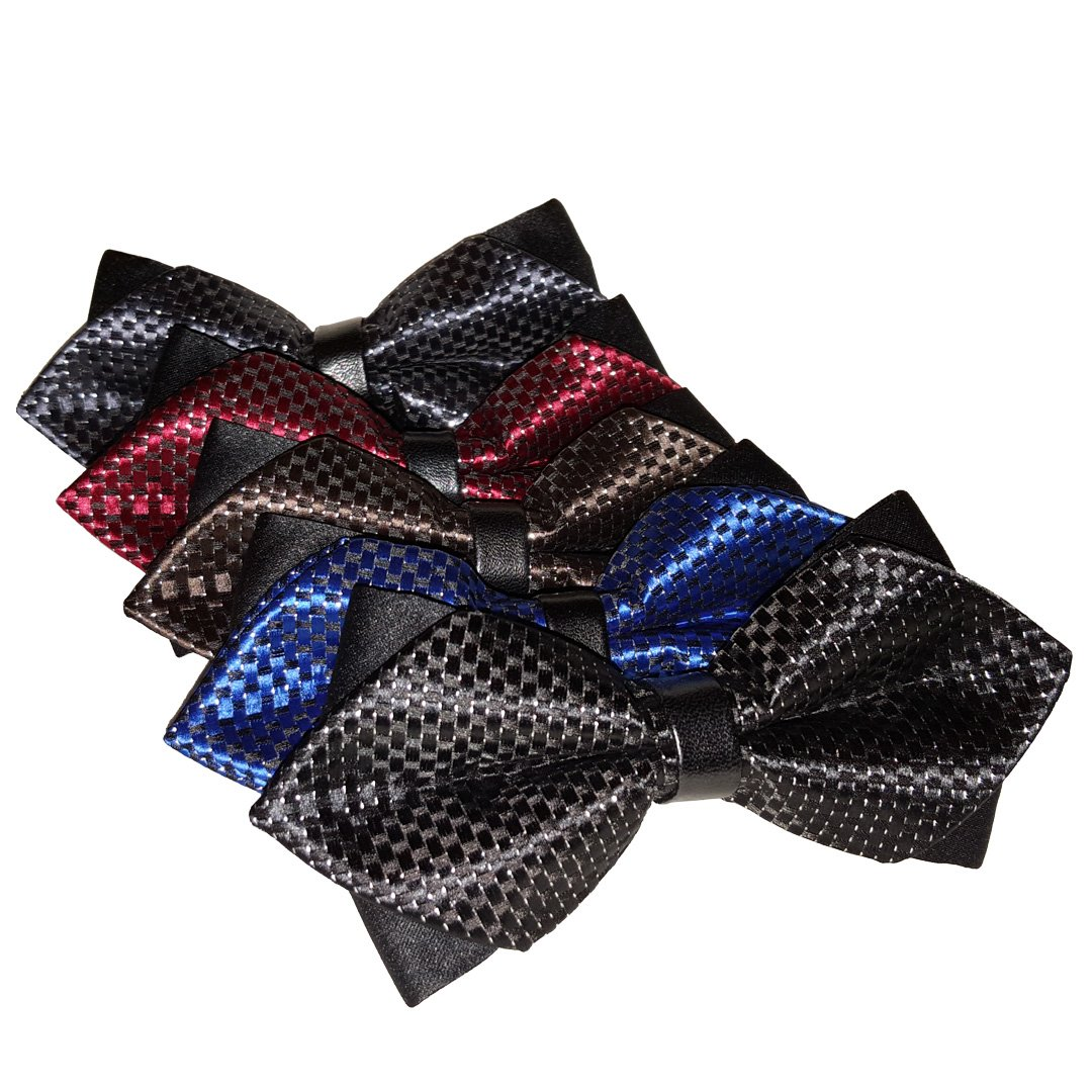 Ravenhill Premium Mens Pre-tied Assorted Pattern Adjustable Neck Tie Bowties 5-pack 1