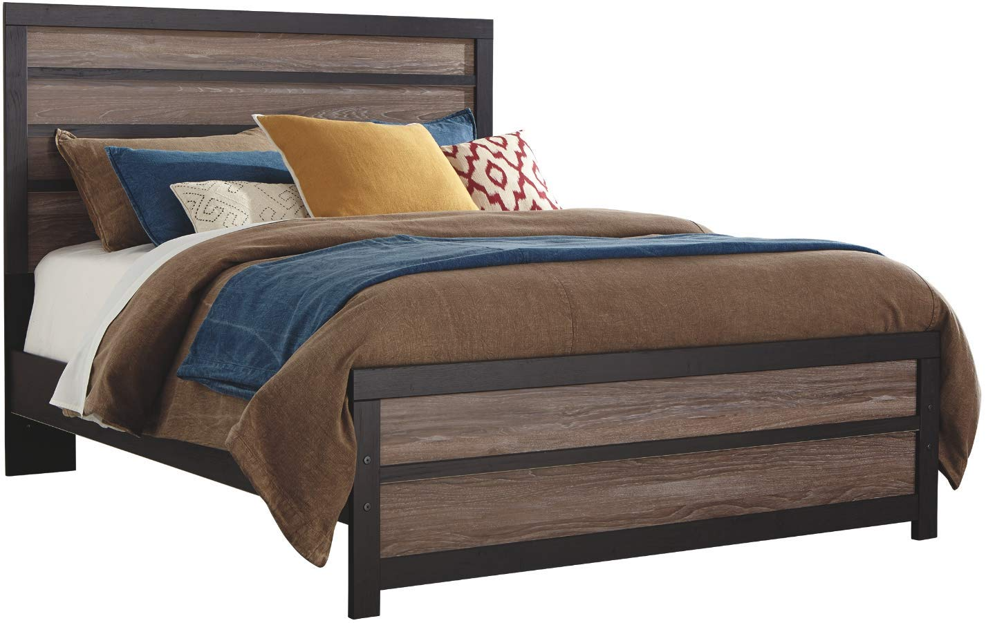 Ashley Furniture Signature Design - Harlinton Queen Panel Footboard - Component Piece - Warm Gray/Charcoal