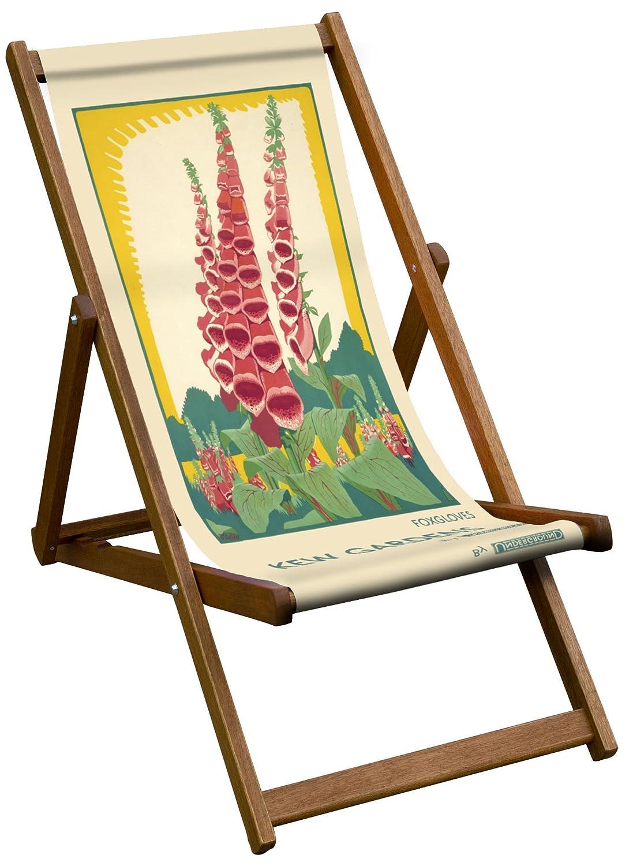Liegestuhl im Vintage-Stil, Motiv Fingerhut
