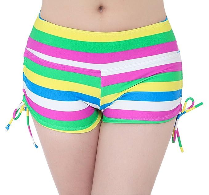 3f0555304e63 YoungSoul Shorts de baño para mujer - Trajes de playa boardshorts ...