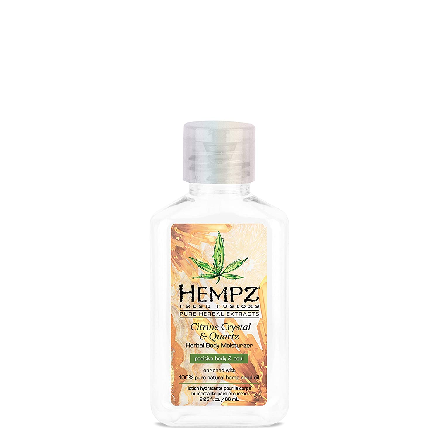 HEMPZ Herbal Body Moisturizer Citrine Crystal Quartz 17 oz 3 Pack