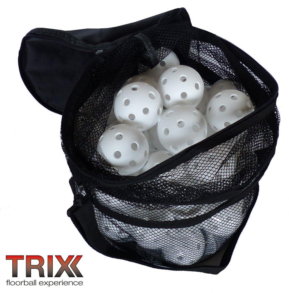 Floorball - TRIX Team-Set 50 Bälle weiß mit Tasche MEGASAT s.r.o.