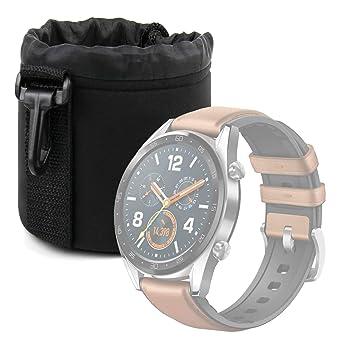 DURAGADGET Bolsa Negra para Huawei Watch GT, Huawei Band 3 ...