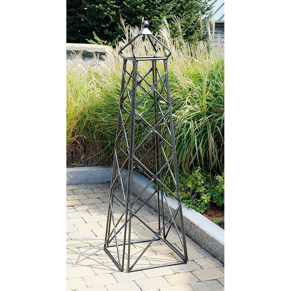 Amazon.com : Achla Designs Lattice Obelisk Garden Trellis : Trellises :  Garden U0026 Outdoor