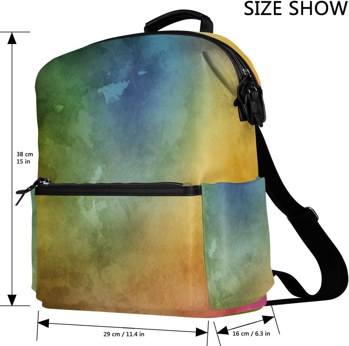 Laptop Backpack Lightweight Waterproof Travel Backpack Double Zipper Design with Gorgeous Watercolor Starry Sky School Bag Laptop Bookbag Daypack for Women Kids