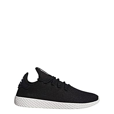 53b8a56171199 adidas Mens Pharrell Williams Tennis HU Textile Core Black Chalk White  Trainers 6.5 US