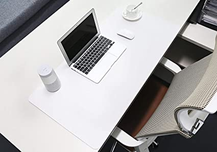 PU Leather Desk Mat Office Desk Protector Large Writing Pad Water ...