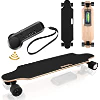 Electric Skateboard Youth Electric Longboard with Wireless Remote Control, 12 MPH Top Speed, 10 KM Range, 7 Layers Maple…