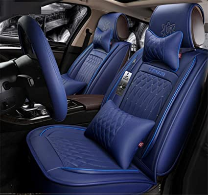 Pleasing Amazon Com Kdd Car Cushion Pu Leather Fabric Deluxe Machost Co Dining Chair Design Ideas Machostcouk