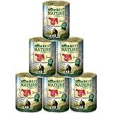 Dehner Best Nature Katzenfutter, Adult Rind und Pute, 6 x 400 g (2.4 kg)