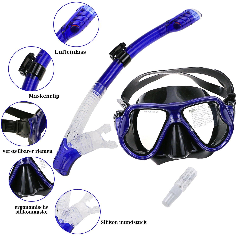 Snorkel M/áscara M/áscara de Snorkel M/áscara Facial Completa con Tubo Gifort M/áscara de Buceo