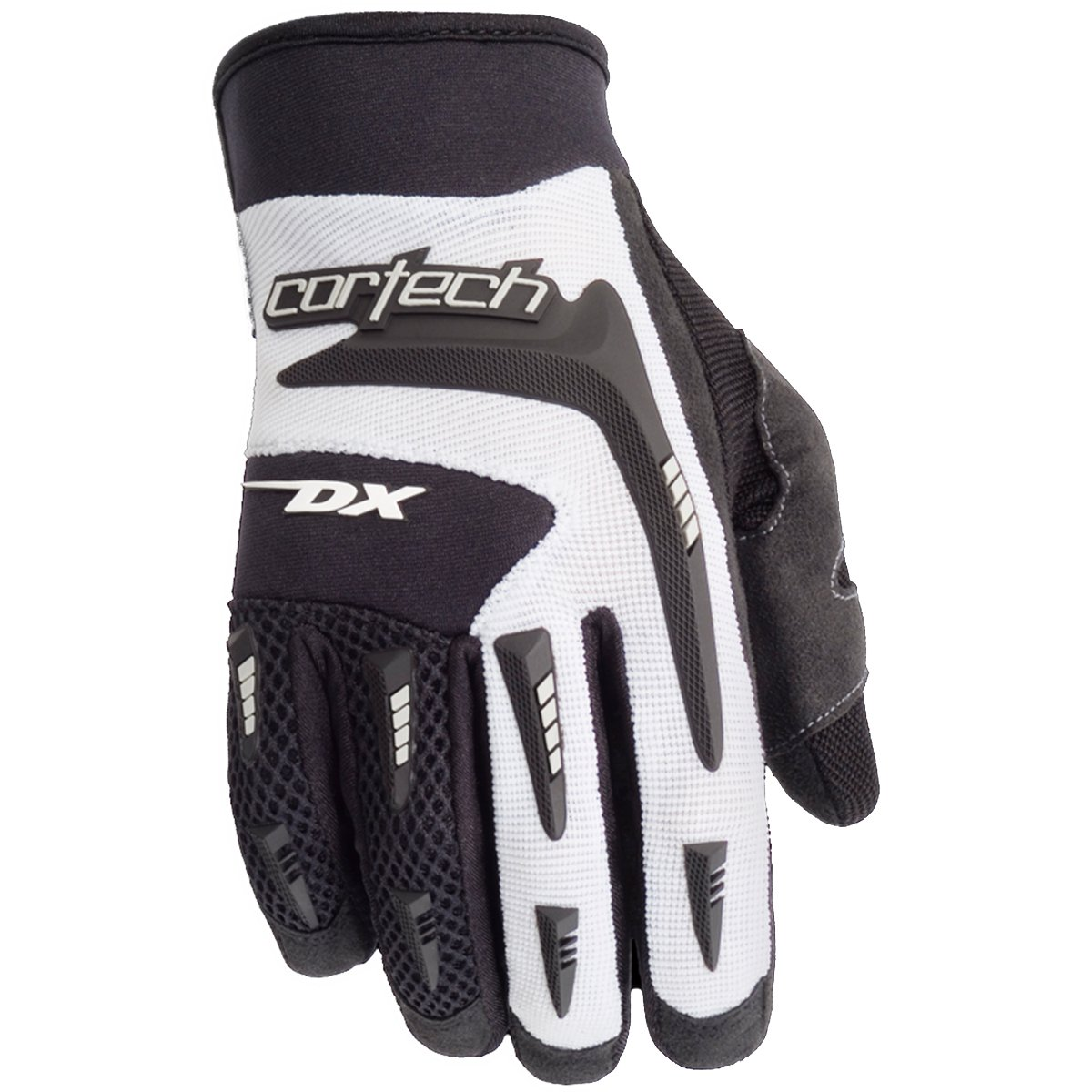 Cortech DX 2 Women's Textile Sports Bike Racing Motorcycle Gloves - Black/White/Small
