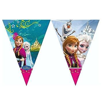 Disney Frozen - fiesta de cumpleaños - tira bandera de Plastico 2.0m