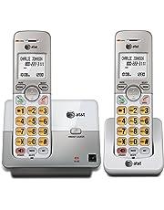 AT&T Teléfonos inalámbricos, 1 Unidad, 2 audífonos, Plateado