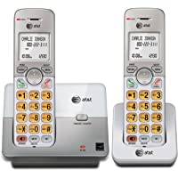 AT&T EL51203 DECT 6.0 Phone with Caller ID/Call Waiting, 2 Cordless Handsets, Silver