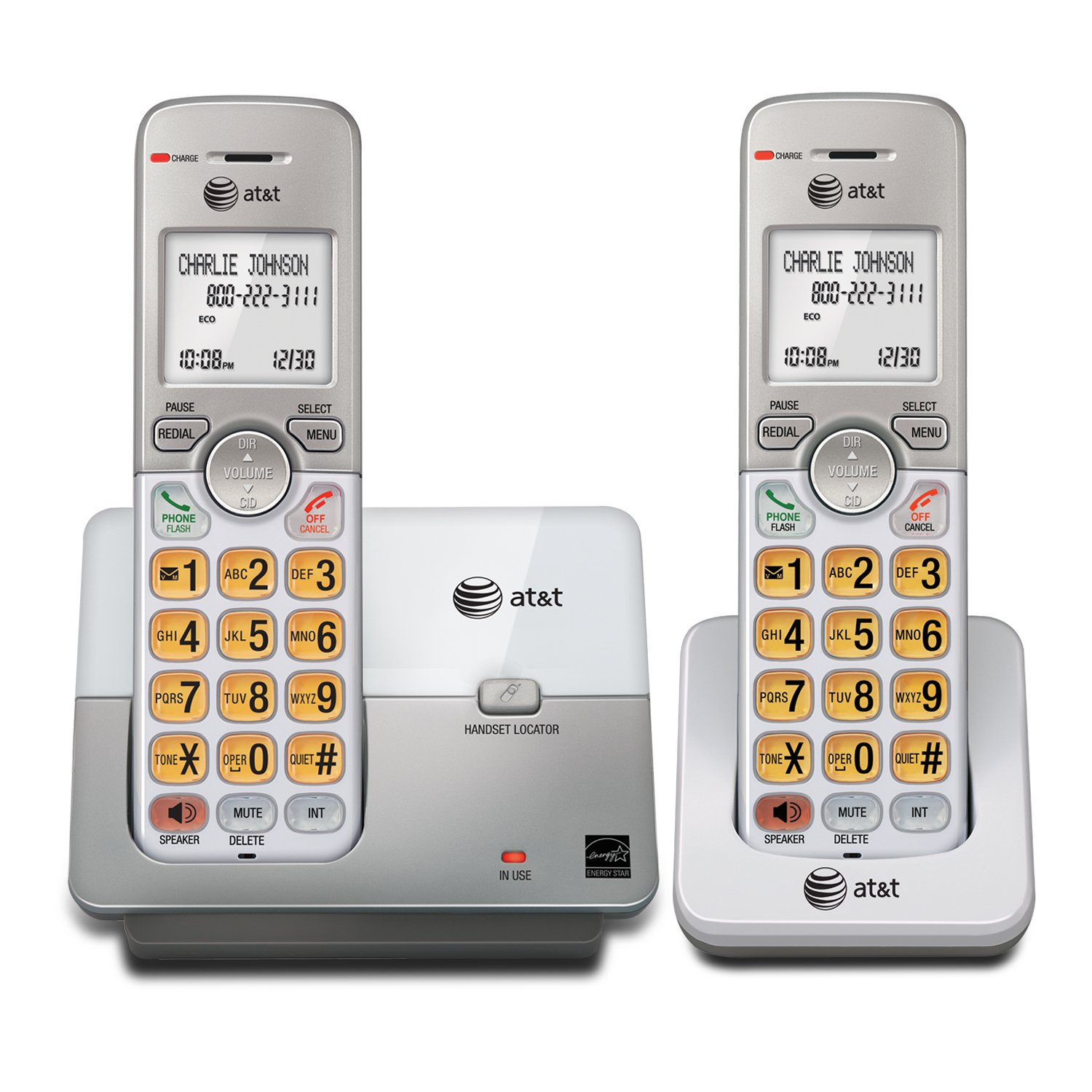 Amazon.com : AT&T EL51103 DECT 6.0 Phone with Caller ID/Call Waiting, 1  Cordless Handset, Silver : Electronics