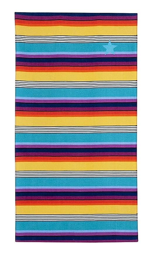 Supla-Home - Toalla de Playa con Impresión Digital, Diseño de Rayas, 100