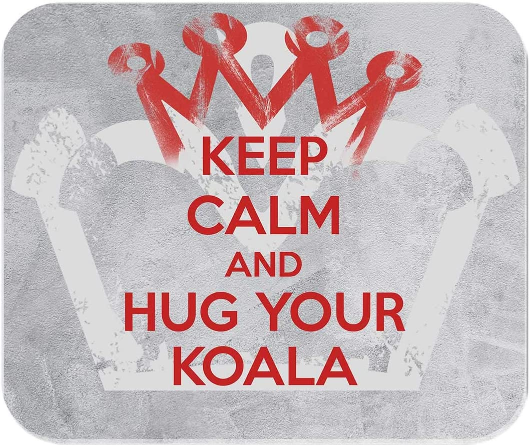 Computer Gaming Non-Slip Rubber Keep Calm and Hug Your Koala Makoroni Office Mousepad