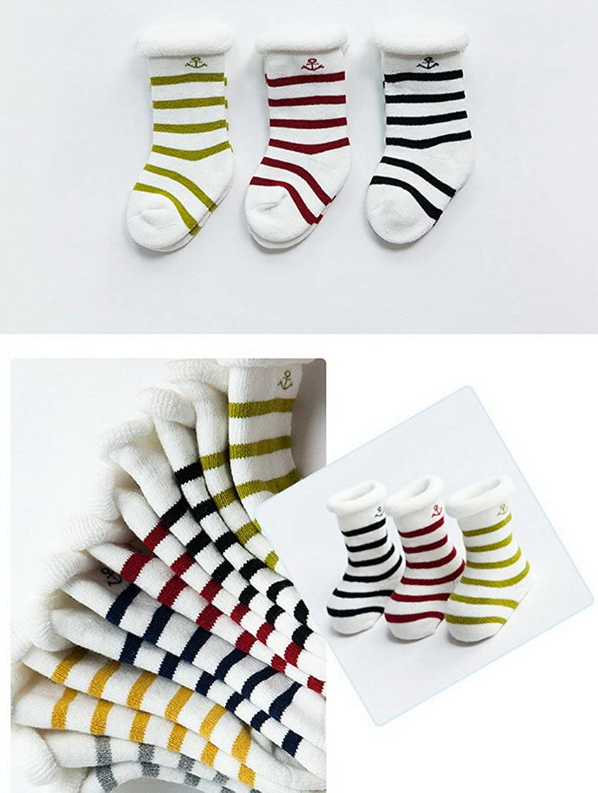 Xiang Ru Baby 3 Pairs Cotton Calf Soft Warm Socks