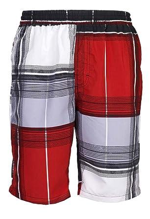 a29274dc623b Mareno Short de bain avec motif carreaux moderne pour homme  Amazon.fr   Vêtements et accessoires