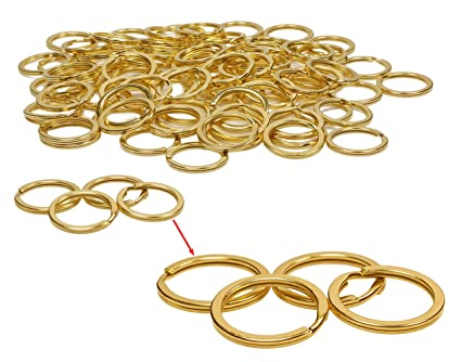 Amazon Com Shapenty 1 Inch 25mm Metal Key Rings Bulk Flat Split