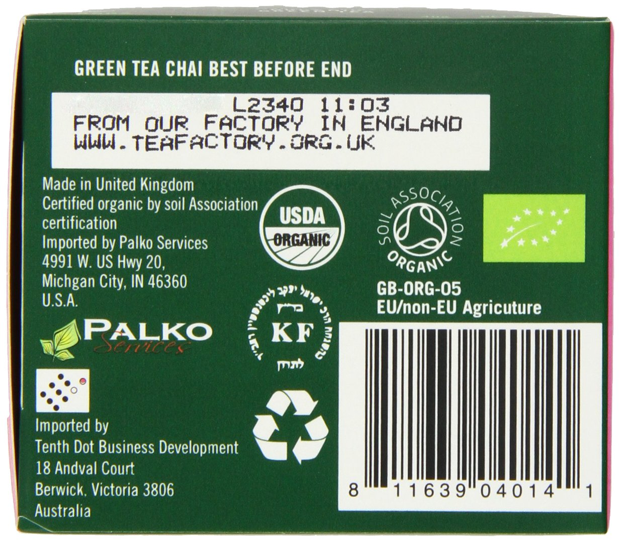 Higher Living Organic Teas Green Chai, 20 Count (Pack of 6) by Higher Living Organic Teas (Image #1)