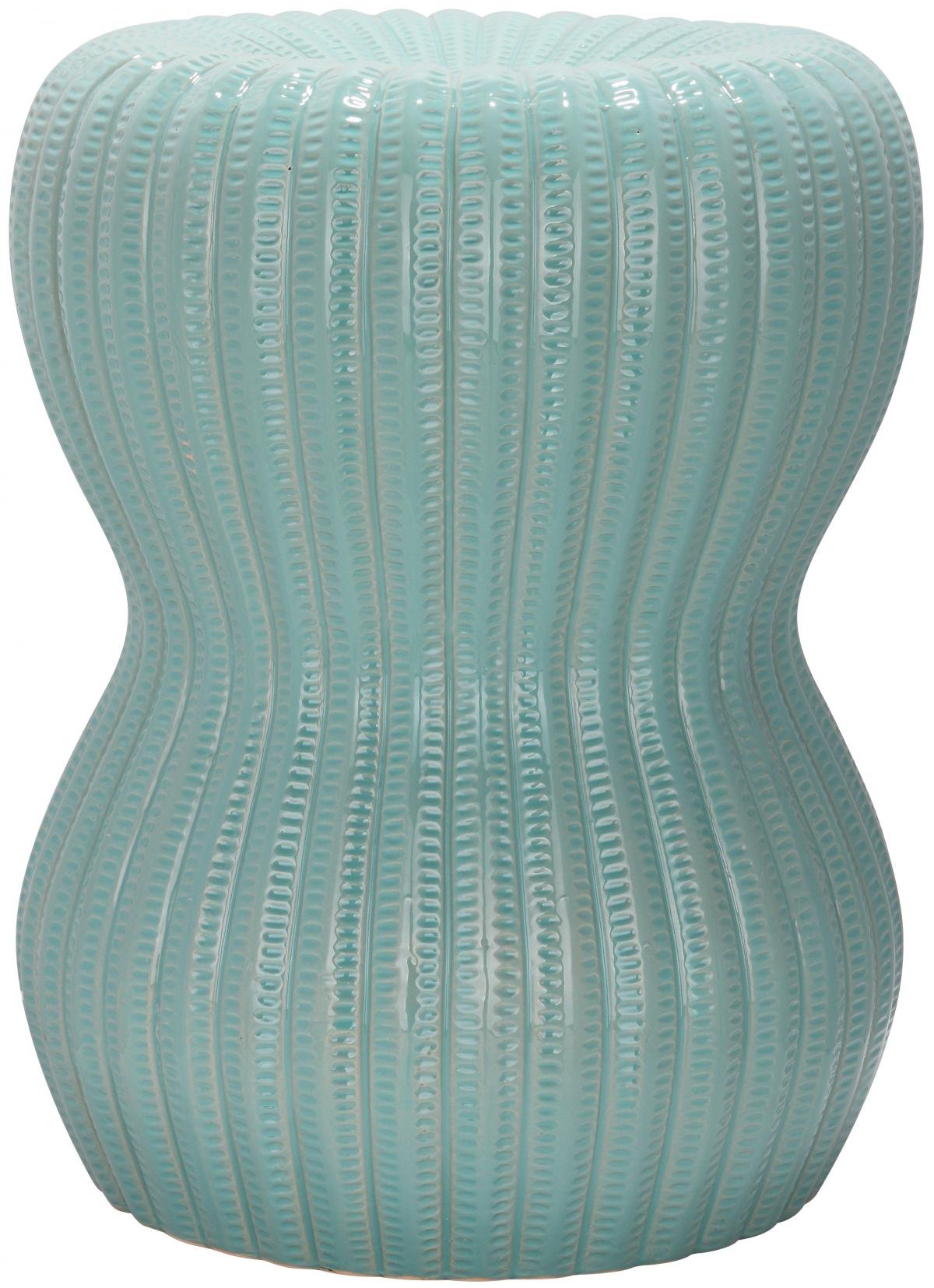Groovy Details About Safavieh Castle Gardens Collection Hour Glass Ceramic Garden Stool Light Aqua Andrewgaddart Wooden Chair Designs For Living Room Andrewgaddartcom