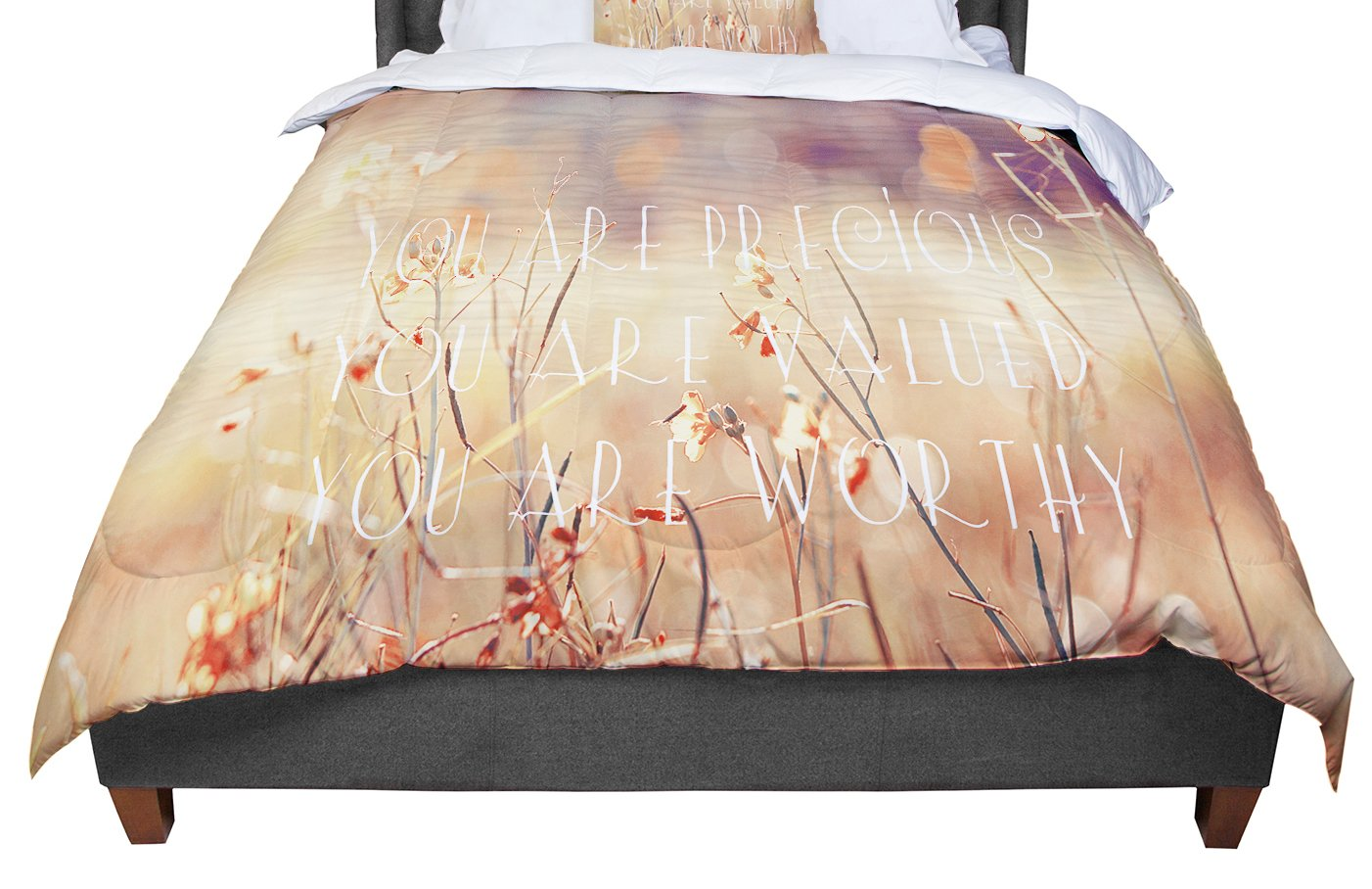 KESS InHouse Suzanne Carter You Are Precious Quote Queen Comforter 88 X 88